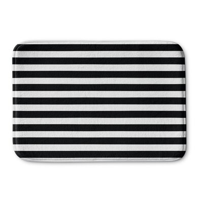 Stripes Memory Foam Bath Rug Size: 17 W x 24 L