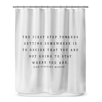 The First Step 72 Shower Curtain Color: Ivory