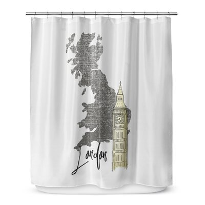 London 72 Shower Curtain