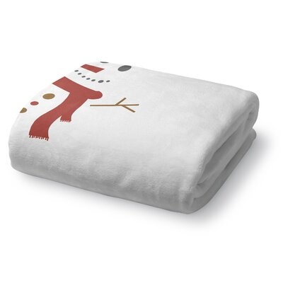 Mr. Snowman Fleece Throw Blanket Size: 30 W x 40 L