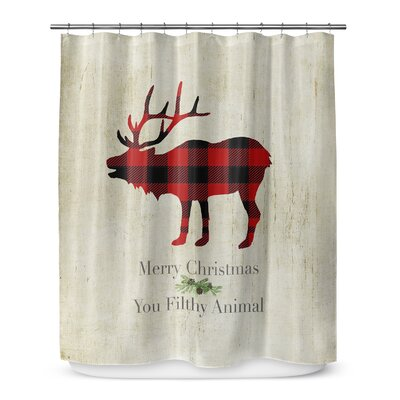 Filthy Animal 72 Shower Curtain Color: Ivory