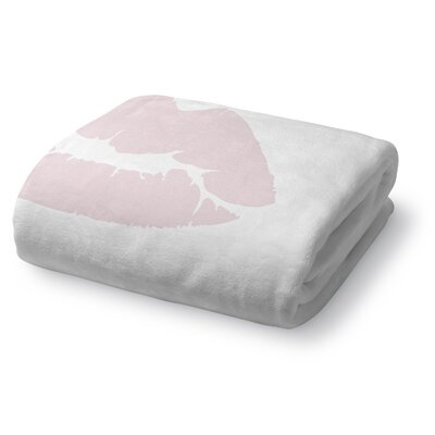 Kiss Fleece Throw Blanket Size: 50 W x 60 L