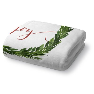 Joy Fleece Throw Blanket Size: 50 W x 60 L