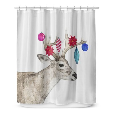 Jingle Deer 72 Shower Curtain