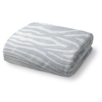 Nerbone Fleece Throw Blanket Color: Light Blue, Size: 50 W x 60 L