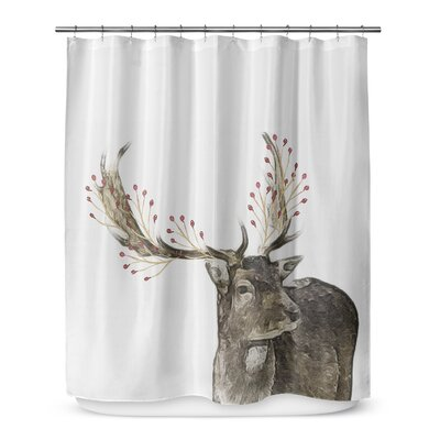 Berry Deer 72 Shower Curtain