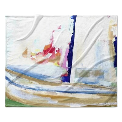 Splash of Fun Fleece Throw Blanket Size: 90 W x 90 L