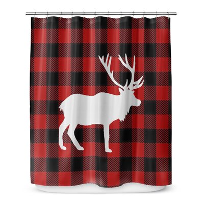 Deer Plaid 72 Shower Curtain