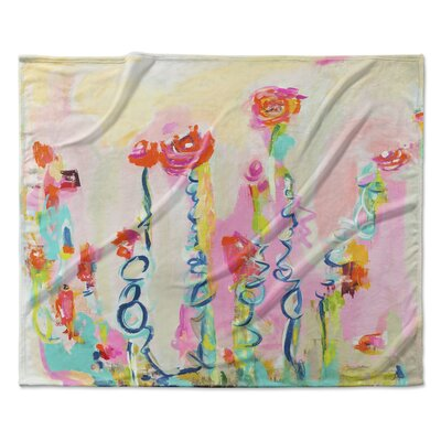Tomboy with Pigtails Fleece Throw Blanket Size: 90 W x 90 L