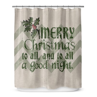 Merry Christmas to All 72 Shower Curtain