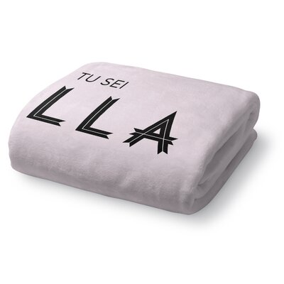 Tu Sei Bella 1 Fleece Throw Blanket Size: 50 W x 60 L