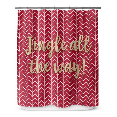 Jingle All the Way 90 Shower Curtain