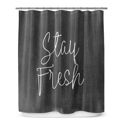 Stay Fresh 72 Shower Curtain Color: White