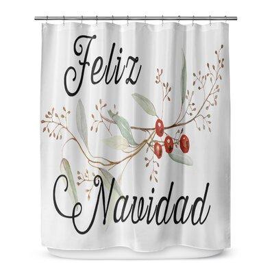 Feliz Navidad 72 Shower Curtain