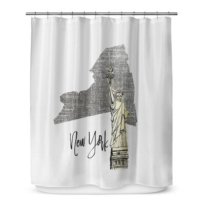 New York 72 Shower Curtain