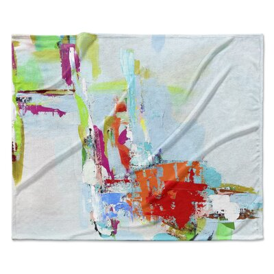 Tropical Tease Fleece Throw Blanket Size: 60 W x 80 L
