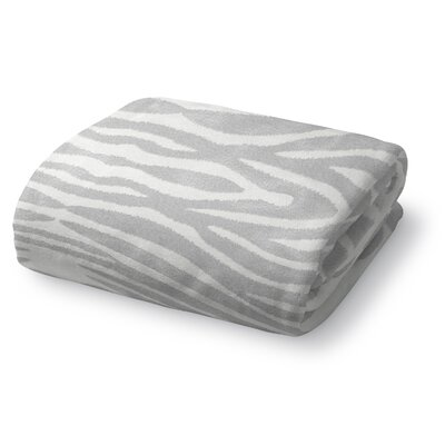 Nerbone Fleece Throw Blanket Size: 90 W x 90 L, Color: Light Gray