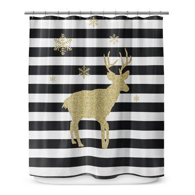 Snow Deer 72 Shower Curtain