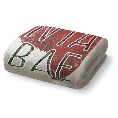 Santa Is Bae Fleece Throw Blanket Size: 90 W x 90 L