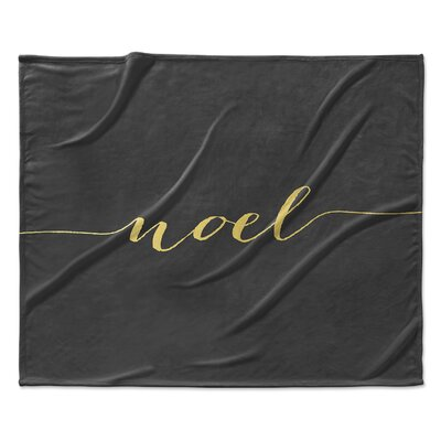 Noel Fleece Throw Blanket Size: 30 W x 40 L
