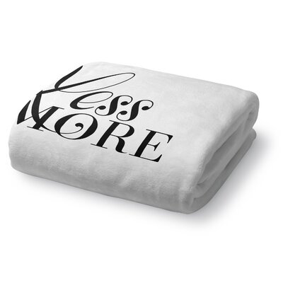 Less Is More Fleece Throw Blanket Size: 50 W x 60 L