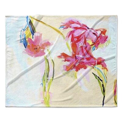 Happier Hour Fleece Throw Blanket Size: 60 W x 80 L