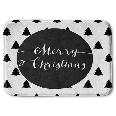 Merry Christmas Memory Foam Bath Rug Size: 17
