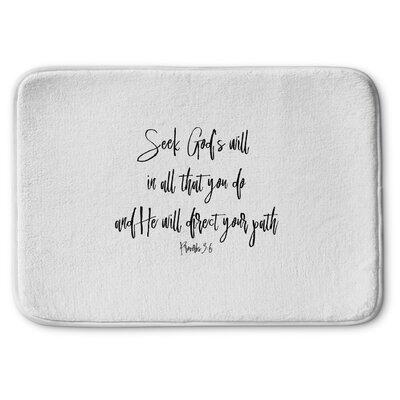Proverbs Memory Foam Bath Rug Size: 24 W x 36 L