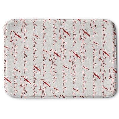 Lalala Memory Foam Bath Rug Size: 17 W x 24 L