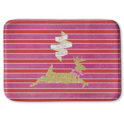 Deer Joy Memory Foam Bath Rug Size: 17 W x 24 L