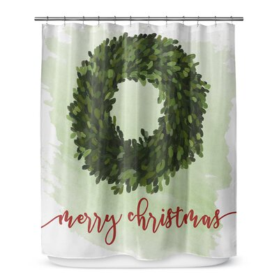 "Merry Christmas 72"" Shower Curtain SCT-SPLSC-70X72-RVI1514"