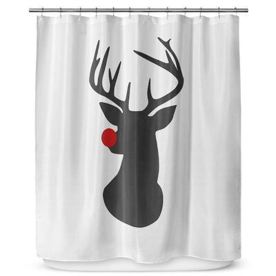 Rudolph 90 Shower Curtain