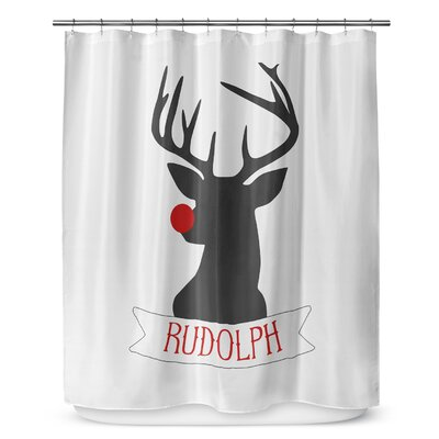 Rudolph 90 Shower Curtain