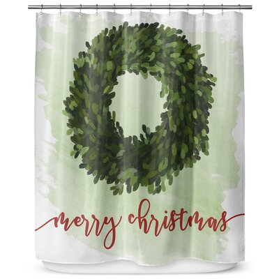 "Merry Christmas 90"" Shower Curtain SCT-LPLSC-70X90-RVI1514"