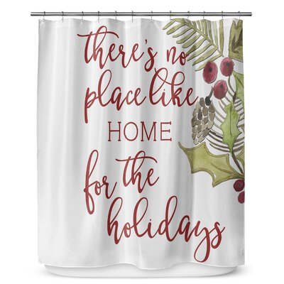 No Place Like Home 90 Shower Curtain