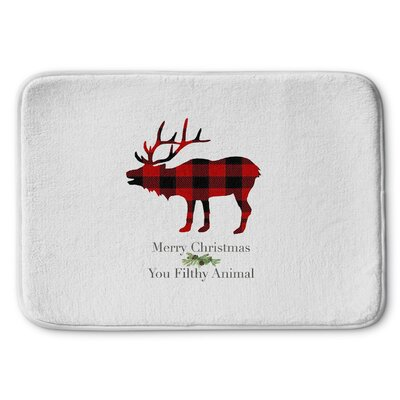 Filthy Animal Memory Foam Bath Rug Size: 17 W x 24 L