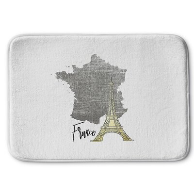 France Memory Foam Bath Rug Size: 17 W x 24 L