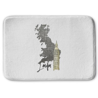 London 2 Memory Foam Bath Rug Size: 17 W x 24 L