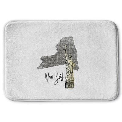 New York Memory Foam Bath Rug Size: 17 W x 24 L