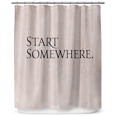 Start Somewhere 90 Shower Curtain