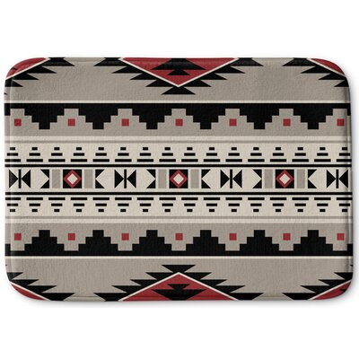 Cheroke Memory Foam Bath Rug Size: 17 W x 24 L, Color: Red