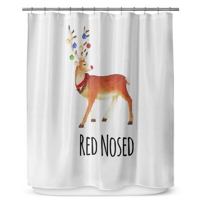 Red Nosed 90 Shower Curtain