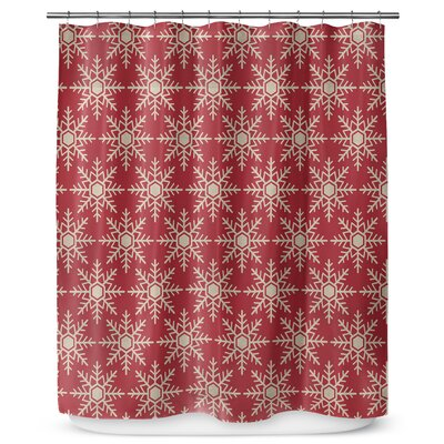 Snow Flakes 90 Shower Curtain