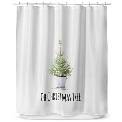 Oh Christmas Tree 72 Shower Curtain
