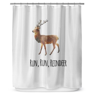 Run Run Reindeer 90 Shower Curtain