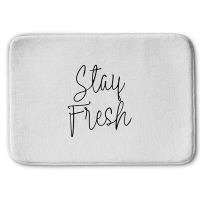 Stay Fresh Memory Foam Bath Rug Size: 17 W x 24 L, Color: Ivory