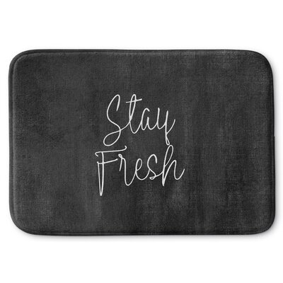 Stay Fresh Memory Foam Bath Rug Size: 24 W x 36 L, Color: Black