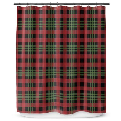 Christmas Plaid 90 Shower Curtain