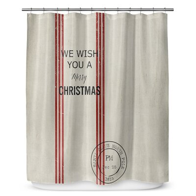 "We Wish You a Merry Christmas 90"" Shower Curtain SCT-LPLSC-70X90-TEL1073"