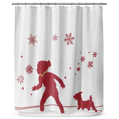 A Walk in the Snow 90 Shower Curtain
